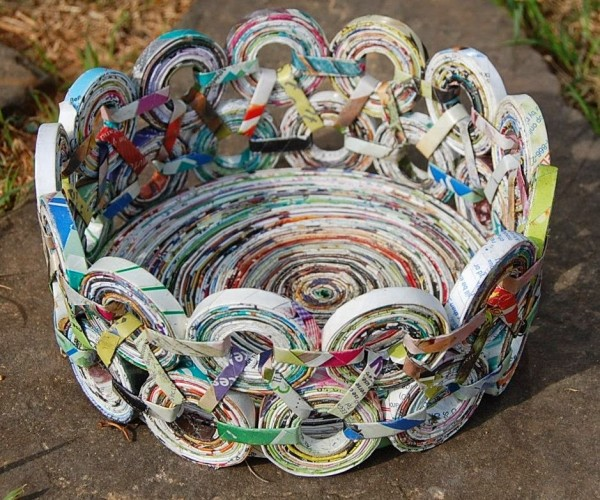 22 Beautiful And Creative DIY Newspaper Crafts