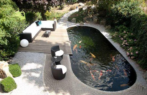 20 koi pond ideas to create a unique garden i do myself for Modern koi pond ideas