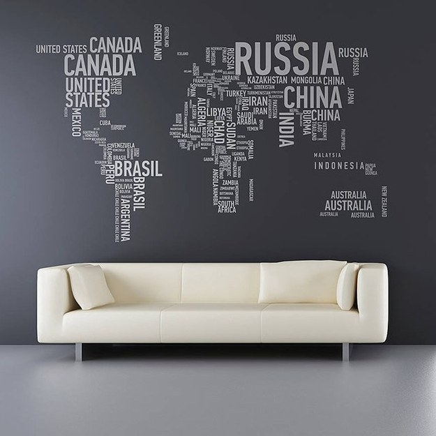 19 Decoration Ideas With World Map - I Do Myself