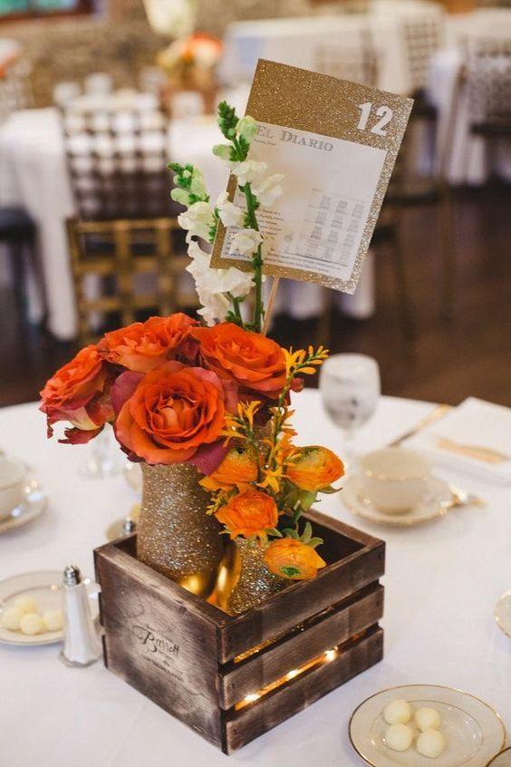 12 Wooden Box Centerpieces Ideas