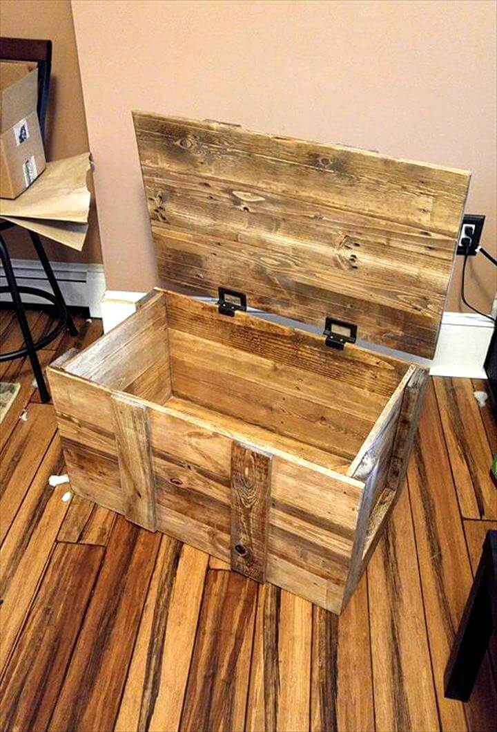 Diy pallet chest/box ideas