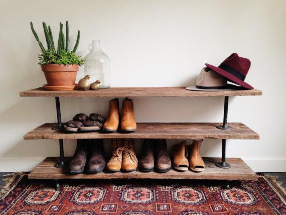 diy shoe rack 21 DIY Shoes Rack & Shelves Ideas   I Do Myself diy shoe rack